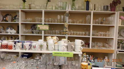glassware and coffee mugs