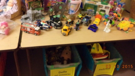 St. Aidan's Thrift Shop - toy trucks.