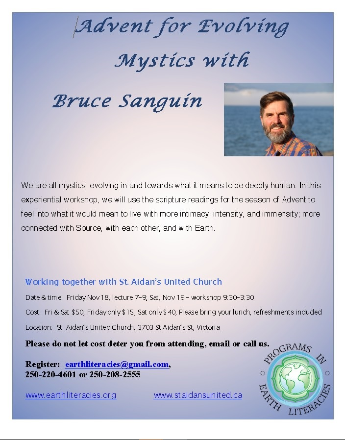 Mystices with Bruce Sanguin - Nov. 18-19 2017
